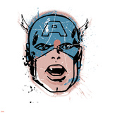 Marvel Comics Retro: Captain America (aged) Posters