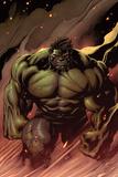 Hulk No.24: Hulk Walking Kunstdruck von Ed McGuinness