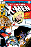 John Byrne - Uncanny X-Men No.131 Cover: White Queen, Colossus and Nightcrawler Plakát