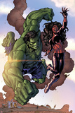 Incredible Hulks No.635: Hulk and Red She-Hulk Print by Tom Grummett