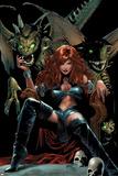 X-Men The End No.5 Cover: Black Queen Plakat af Greg Land