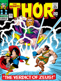 Marvel Comics Retro: The Mighty Thor Comic Book Cover No.129, The Verdict of Zeus, Hercules Posters