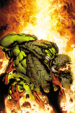 Incredible Hulks No.618 Cover: Hulk and Abomination Fighting Poster by Carlo Pagulayan