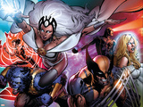 Astonishing X-Men No.31 Cover: Storm, Wolverine, Beast, Armor, Emma Frost and Cyclops Posters av Phil Jimenez