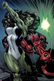 Hulk No.24: She-Hulk and Red She-Hulk Fighting Photo by Ed McGuinness
