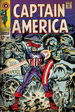 Marvel Comics Retro: Captain America Comic Book Cover No.107, with Red Skull and Bucky (aged) Poster