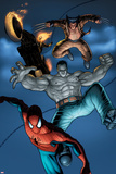 Fear Itself: Fearsome Four No.2: Spider-Man, Hulk, Wolverine, and Ghost Rider Jumping Posters by Simon Bisley
