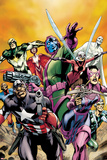 Avengers: The Childrens Crusade - Young Avengers No.1: Captain America, Hawkeye, Stinger and Others Prints by Alan Davis