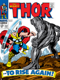 Marvel Comics Retro: The Mighty Thor Comic Book Cover No.151 --To Rise Again! Posters
