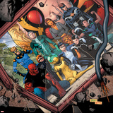 Avengers Academy No.20 Cover: Mettle, Hazmat, Finesse, Striker, Quicksilver, Tigra, Wasp and Others Photo
