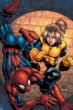 Marvel Age Spider-Man Team Up No.3 Cover: Spider-Man and Shadowcat Photo by Randy Green