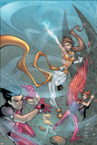 New X-Men No.4 Cover: Icarus, Wind Dancer and Hellion Print by Randy Green