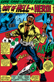 Marvel Comics Retro: Luke Cage, Hero for Hire Comic Panel, Screaming Pósters