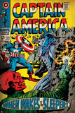 Marvel Comics Retro: Captain America Comic Book Cover No.101, Red Skull (aged) Posters