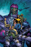 New X-Men No.514 Cover: Sentinel, Wolverine, Beak, Nova, Cassandra and E.V.A. Prints by Marc Silvestri