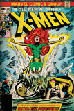 Marvel Comics Retro: The X-Men Comic Book Cover No.101, Phoenix, Storm, Nightcrawler, Cyclops Plakaty