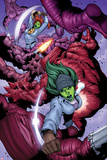 She-Hulks No.3: She-Hulk and Lyra Fighting Posters by Ryan Stegman