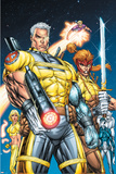 X-Force No.1 Cover: Cable, Shatterstar and Cannonball Prints by Rob Liefeld