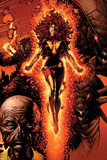 X-Men: Legacy No.211 Cover: Dark Phoenix, Brood, Nova and Cassandra Print by David Finch
