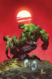 Incredible Hulk No.3: Hulk and Bruce Banner Fighting Fotografía por Marc Silvestri