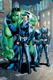 Exiles No.95 Group: Doom, Victor Von, Human Torch, Invisible Woman and Hulk Pôsteres por Clayton Henry