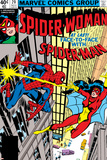 Frank Springer - Spider-Woman No.20 Cover: Spider Woman and Spider-Man Fighting Plakát