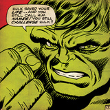 Marvel Comics Retro: The Incredible Hulk Comic Panel (aged) Photo