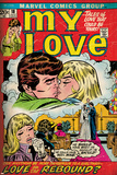 Marvel Comics Retro: My Love Comic Book Cover No.18, Kissing, Love on the Rebound (aged) Plakater