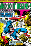 Marvel Comics Retro: Captain America Comic Panel, And So It Begins..! Poster