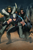 Cable No.7 Group: Wolverine, X-23, Warpath and Wolfsbane Posters by Ariel Olivetti