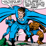 Marvel Comics Retro: Fantastic Four Comic Panel, Thing, Mr. Fantastic, Human Torch Poster