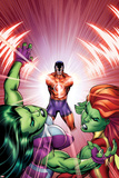 She-Hulks No.3 Cover: She-Hulk, Lyra, and Klaw Prints by Ed McGuinness