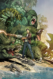 Incredible Hulk No.3: Bruce Banner Shooting, Surrounded by Giant Green Animals Prints by Marc Silvestri