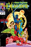 Excalibur No.16 Cover: Nightcrawler, Phoenix, Shadowcat and Kymri Posters par Alan Davis
