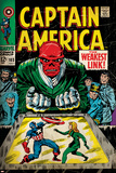 Marvel Comics Retro: Captain America Comic Book Cover No.103, Red Skull, the Weakest Link (aged) Print