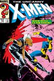 Uncanny X-Men No.201 Cover: Storm and Cyclops Plakaty autor Rick Leonardi