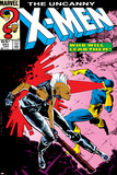 Uncanny X-Men No.201 Cover: Storm and Cyclops Posters by Rick Leonardi