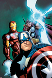 Avengers: Earths Mightiest Heroes No.3 Cover: Captain America, Iron Man, and Thor Poster by Patrick Scherberger