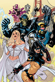 Secret Invasion: X-Men No.1 Cover: X-23 and Emma Frost Photographie par Terry Dodson