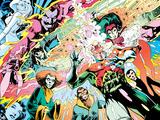 X-Men Archives No.3 Cover: Captain Britain, Fascination, Psylocke, Oxo and Zeitgeist Poster par Alan Davis