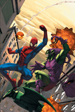 Marvel Age Spider-Man No.16 Cover: Spider-Man and Green Goblin Prints by Roger Cruz