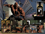New Avengers No.23: Panels with Luke Cage Prints by Mike Deodato