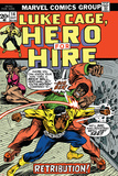 Marvel Comics Retro: Luke Cage, Hero for Hire Comic Book Cover No.14, Fighting Big Ben Poster