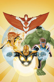 I Am an Avenger No.3 Cover: Stingray, Firestar, Hulk, Nova, and Justice Photo by Phil Noto