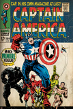 Marvel Comics Retro: Captain America Comic Book Cover No.100, with Black Panther, Thor, Namor Posters
