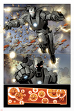 Invincible Iron Man No.32: War Machine Flying Posters by Salvador Larroca