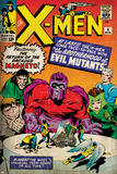 Marvel Comics Retro: The X-Men Comic Book Cover No.4, Scarlet Witch, Quicksilver, Toad(aged) Poster