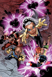 Uncanny X-Men No.461 Cover: Storm, Bishop, Nightcrawler, Juggernaut and Marvel Girl Fighting Prints