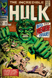 Marvel Comics Retro: The Incredible Hulk Comic Book Cover No.102, Big Premiere Issue (aged) Posters