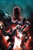 Shadowland: Blood On The Streets No.1 Cover: Shroud, Misty Knight, Silver Sable, and Paladin Posters by Francesco Mattina